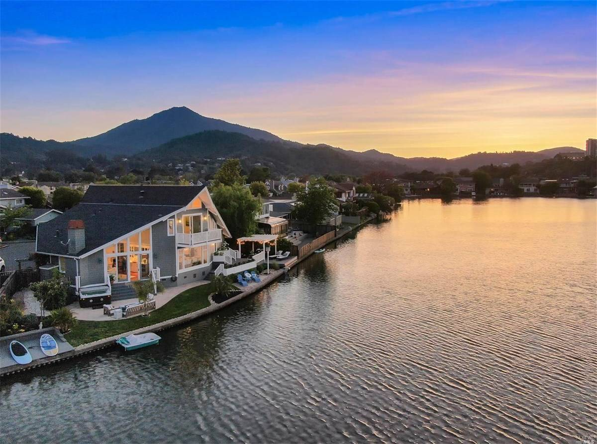 Larkspur waterfront home for sale